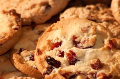 Chocolate chip cookies background Royalty Free Stock Photo