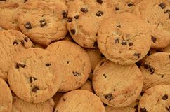 Chocolate Chip Cookies Background Stock Photography
