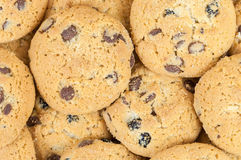 Chocolate chip cookies background Stock Photos