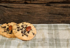 Chocolate chip cookies background 3 Stock Photos