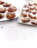 Chocolate chip cookies and basler lackerli cookies Stock Image