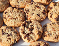 Chocolate chip cookies or biscuits background' Stock Photo