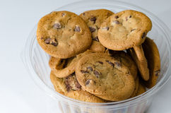 Chocolate chip cookies in bowl Royalty Free Stock Photography