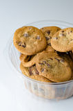Chocolate chip cookies in bowl Royalty Free Stock Images