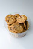 Chocolate chip cookies in bowl Royalty Free Stock Photos