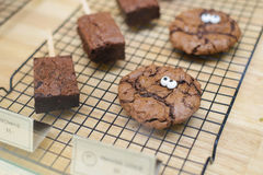 Chocolate Chip Cookies and brownie royalty free stock photography