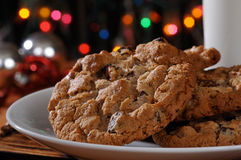 Chocolate chip cookies at Christmas time Stock Photography