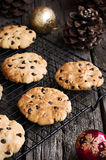 Chocolate Chip Cookies at Christmas Time Royalty Free Stock Images