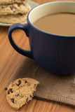 Chocolate chip cookies and coffee mug Royalty Free Stock Photography