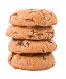 Chocolate chip cookies. S isolated on a white background stock photography
