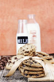 Chocolate Chip Cookies and Cream Stock Image