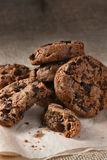 Chocolate Chip Cookies del chocolate Fotografía de archivo