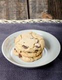 Chocolate Chip Cookies Dessert imagem de stock royalty free