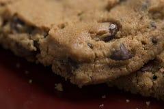 Chocolate Chip Cookies en la placa 12 Imagen de archivo libre de regalías