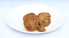 Chocolate chip cookies. Image of Chocolate chip cookies Royalty Free Stock Images