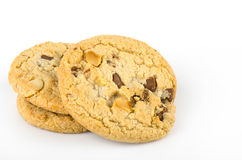 Chocolate chip cookies isolate on white bachground Royalty Free Stock Photography