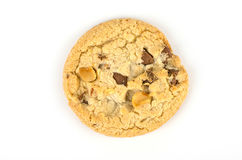 Chocolate chip cookies isolate on white bachground Royalty Free Stock Photos