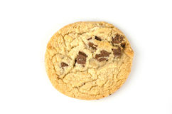 Chocolate chip cookies isolate on white bachground Royalty Free Stock Photo