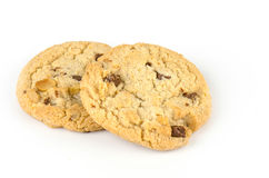 Chocolate chip cookies isolate on white bachground Stock Image