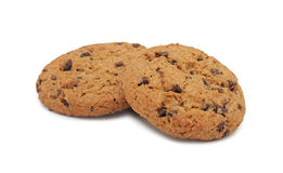 Chocolate chip cookies, isolated Royalty Free Stock Photography