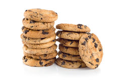 Chocolate chip cookies isolated Stock Photography