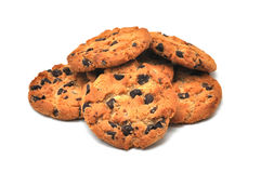 Chocolate Chip Cookies Isolated Stock Image