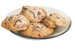 Chocolate chip cookies isolated royalty free stock photos