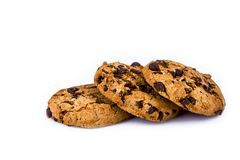 Free Chocolate Chip Cookies Isolated On White Background Royalty Free Stock Photos - 117371008