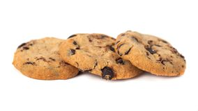 Free Chocolate Chip Cookies Isolated On White Background Royalty Free Stock Photo - 139405325