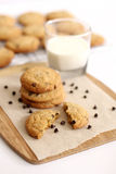 Chocolate Chip Cookies. With milk Royalty Free Stock Image