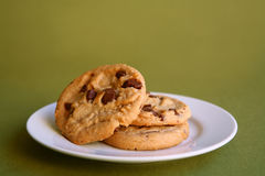 Free Chocolate Chip Cookies On A Plate Royalty Free Stock Images - 4264609