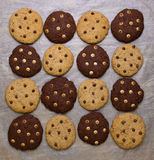 Chocolate Chip Cookies Pattern Stock Photography