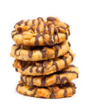 Chocolate chip cookies with peanuts Stock Photos