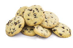 Chocolate chip cookies 2 stock images