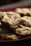Chocolate Chip Cookies on Plate Royalty Free Stock Photos