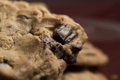 Chocolate Chip Cookies on Plate Stock Images