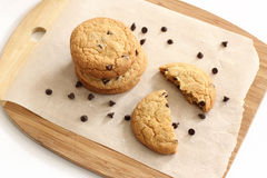 Chocolate Chip Cookies. On a platter Royalty Free Stock Photography