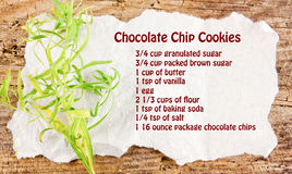 Chocolate Chip Cookies Recipe Royalty Free Stock Images