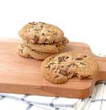 Chocolate chip cookies (selective focus). Stock Photos