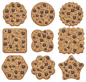 chocolate chip cookies, vector  Royalty Free Stock Image