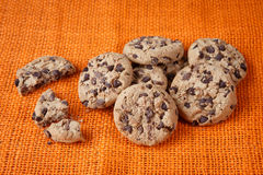 Chocolate chip cookies shot Stock Image