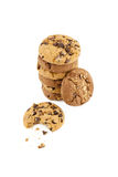 Chocolate chip cookies on a stack Stock Image