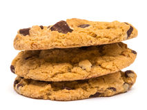 Chocolate Chip Cookies Stack Stock Image