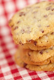 Chocolate chip cookies on table Stock Images