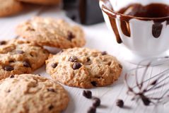 Chocolate chip cookies on the table Stock Photography