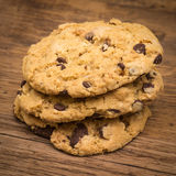 Chocolate Chip cookies on Table Royalty Free Stock Photo