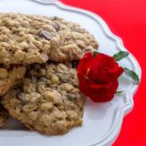 Chocolate Chip Cookies for valentines Royalty Free Stock Photos