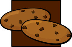 Chocolate chip cookies vector illustration. Vector illustration of two chocolate chip cookies Stock Photo