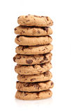 Chocolate Chip Cookies. On white Royalty Free Stock Image