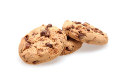 Chocolate Chip Cookies. On white Royalty Free Stock Photos